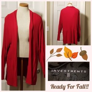 🍂🍁Investments Long Open Cardigan